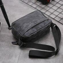 Man Bag Shoulder Bag Work Messenger Sacoche Homme Crossbody Bag Cell Phone Pocket Bandolera Hombre PU Flap Summer Small Pouch metal ring detail flap pouch bag