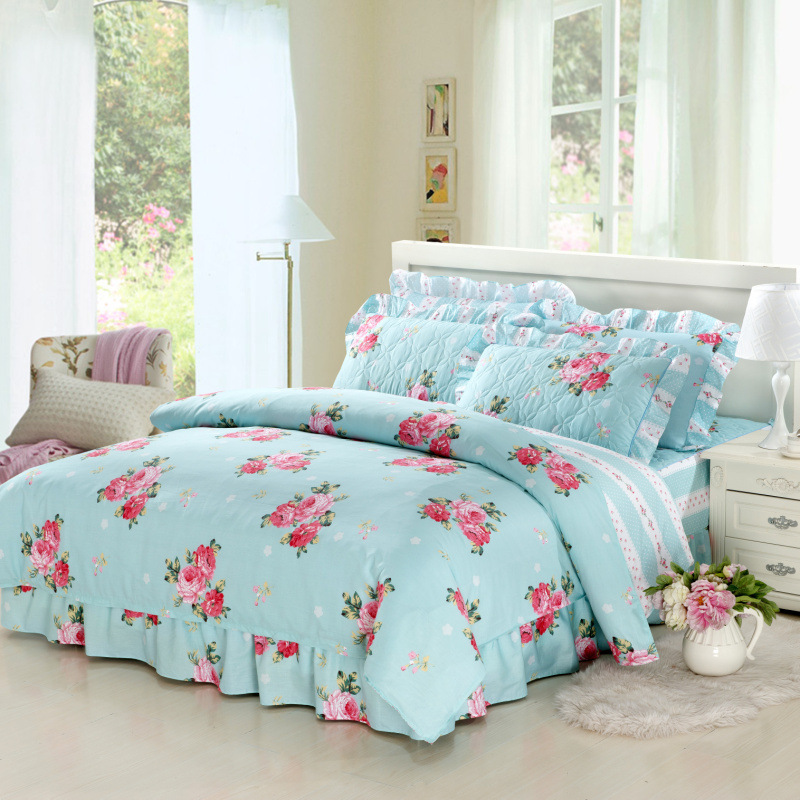 Online Cotton Printed Bed Sheets Thick Quilted Duvet Cover King Size Designer Bedding Set Aliexpress Mobile