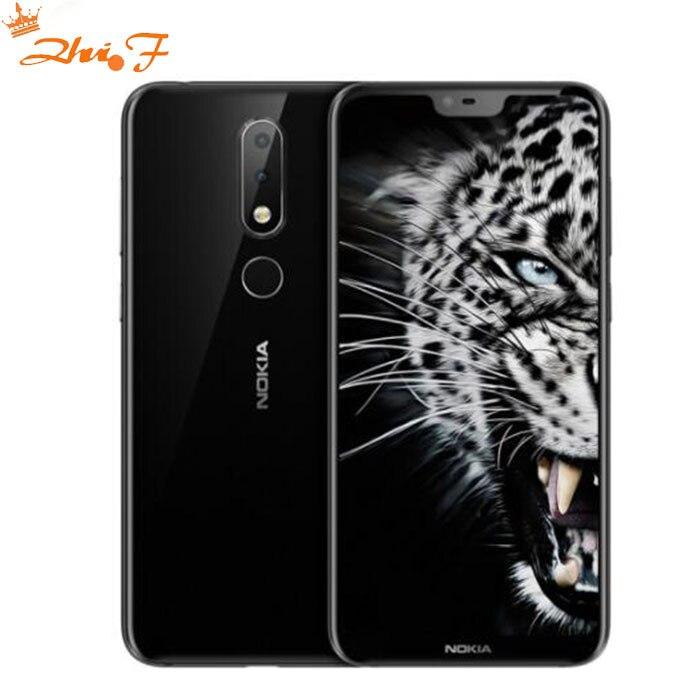 Nokia X6 2018 smart téléphone Android un 3060 mAh 16.0MP 3 Caméra Double Sim LTE D'empreintes Digitales 5.8 pouces Octa Core smart Mobile Téléphone