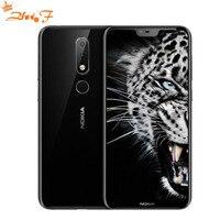 Nokia X6 2018 Смартфон Android один 3060 mAh 16.0MP 3 Камера Dual Sim LTE отпечатков пальцев 5,8 дюймовый Octa Core smart мобильный телефон