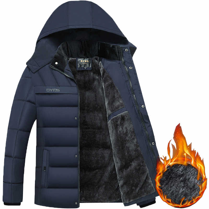 2019 Hot Fashion Hooded Winter Jas Mannen Dikke Warme Heren Winter Jas Winddicht Vader Gift Parka