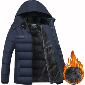 Image 1 - Dropshipping 2020 חמה אופנה סלעית חורף מעיל גברים עבה חם Mens חורף מעיל Windproof אב מתנה Parka
