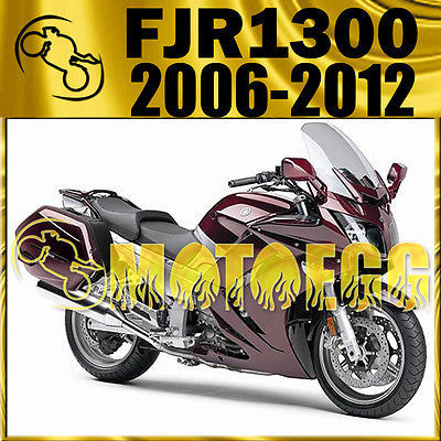 Motoegg ABS Fairing For FJR1300 FJR 1300 2006-2012 06-12 Dark Red Y36M28 Motorcycle ABS plastic