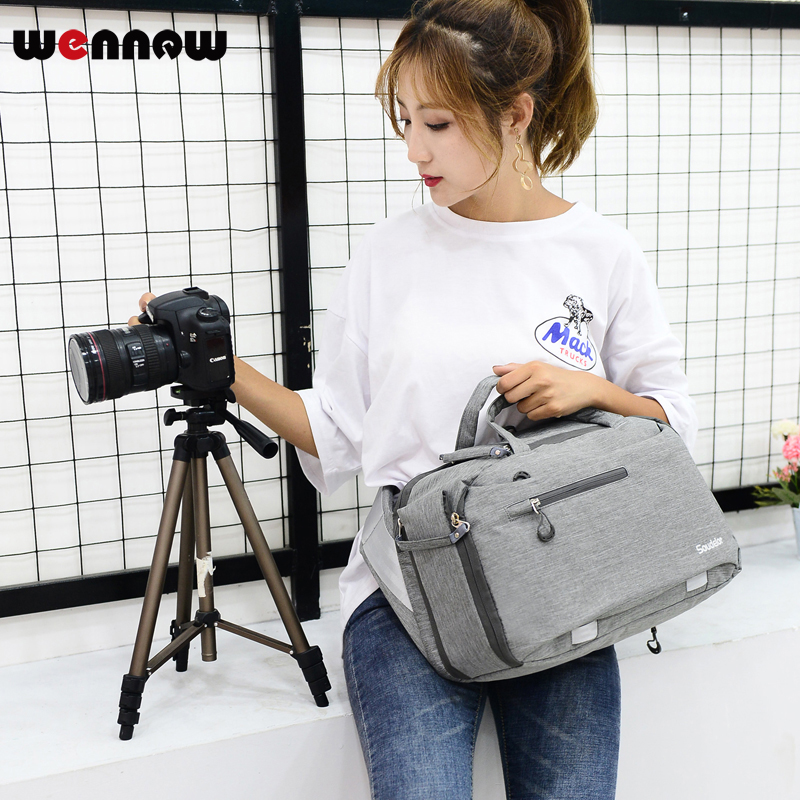 wennew DSLR bag Camera Bag Fashion Shoulder Sling Backpack Lens Case for Nikon COOLPIX P900s B700 B500 P900 Z7 Z6 D7500 D7200 nikon p900 s camera coolpix p900s digital cameras 83x zoom full hd video wi fi brand new