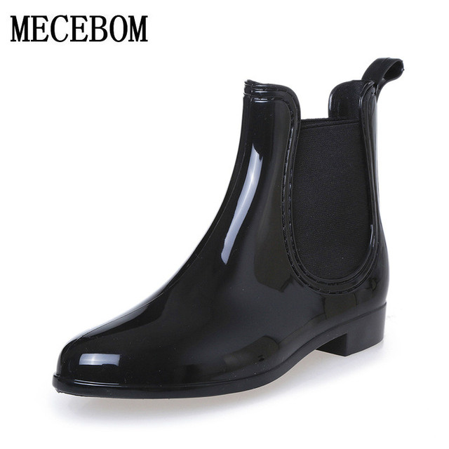 Rubber Boots 2018 Waterproof Trendy Jelly Women Ankle Rain