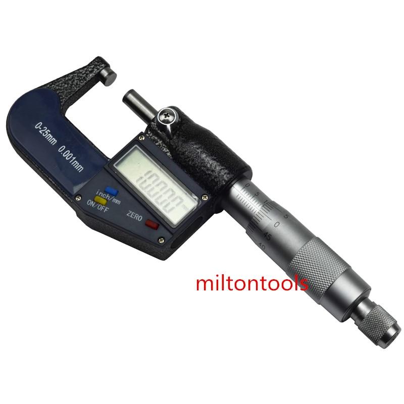 25 мм/0,001 мм электронный цифровой микрометр штангенциркуль манометр хромированная нержавеющая сталь наружный микрометр