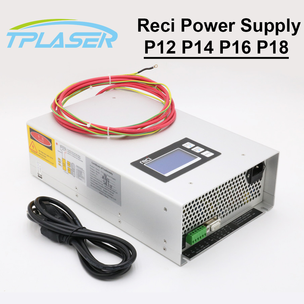 Co2 Laser Power Supply Reci P12 P14 P16 P18 Lcd Intelligent Function 80w 100w 130w 150w For Co2 Laser Tube W2 W4 W6 W8 Big Clearance Sale Tools