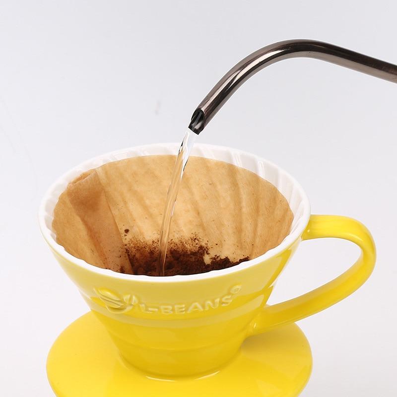 VOGVIGO New Wooden Hand V60 Drip Paper Coffee Filter 102
