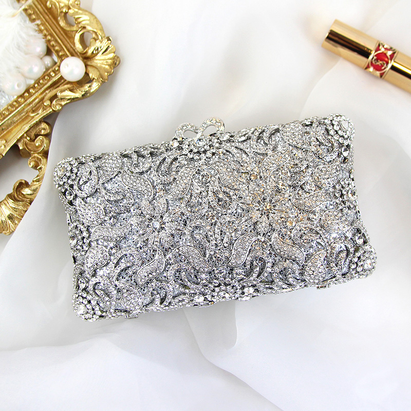 Crystal Dazzling Sequin Evening Clutch Luxury Lady Banquet Bag Women Handbag for Party Evening Dress with Chain HandmadeCrystal Dazzling Sequin Evening Clutch Luxury Lady Banquet Bag Women Handbag for Party Evening Dress with Chain Handmade