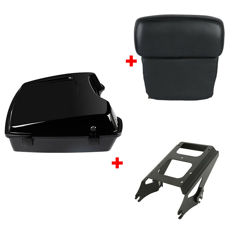 "Image 1 - Motorcycle Painted 5.5"" Razor Tour Pak Pack Trunk 2 up Mount Rack For Harley Touring Road King Road Electra Glide 2009 2013"
