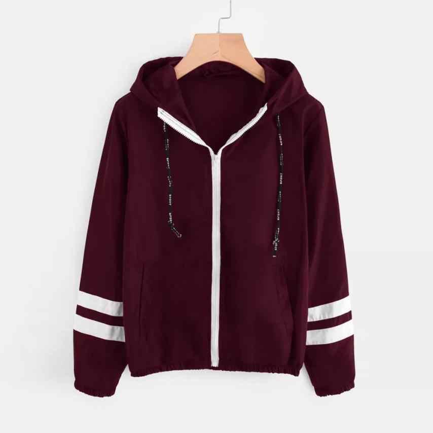 上着 & コートジャケットカジュアルパッチワーク薄 Skinsuits フード付きスポーツコートとジャケット女性 2018JUL30