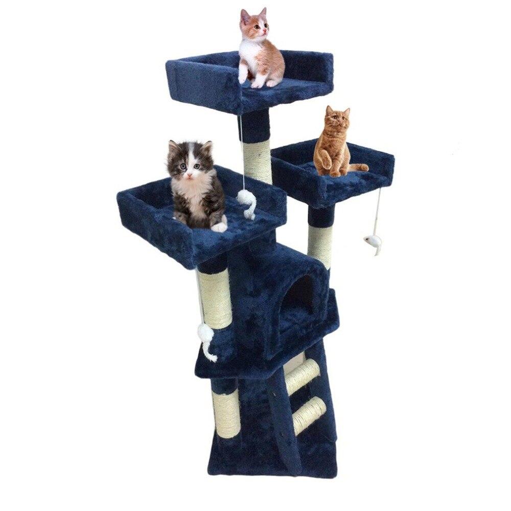 Кошачье дерево башня Post Activity Centre игрушки Pet защитный центр деятельности игрушка восхождение прыжки Рамки Дом Мебель Кошка инструмент
