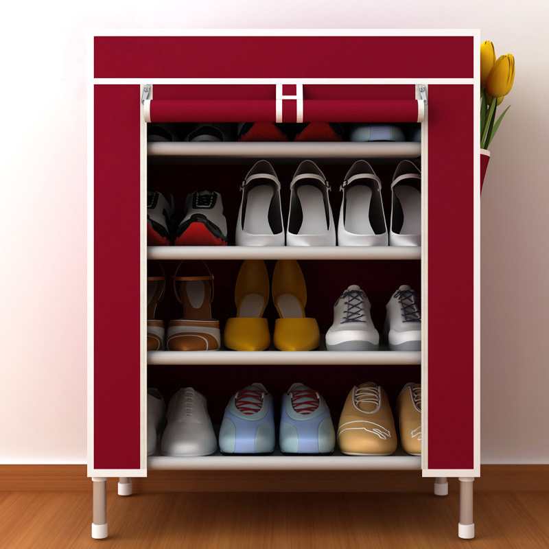 Oxford Cloth Shoe Cabinets Shoes Rack Stand Shelf Shoes Organizer Living Room Bedroom Storage Furniture