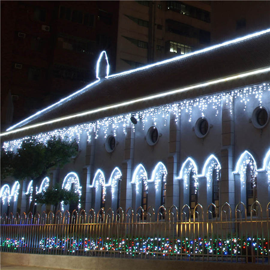 LED Curtain Icicle String Fairy Light 3-24M LED Christmas Garland Indoor Outdoor Party Garden Stage Decorative Lights 110V 220V (23)