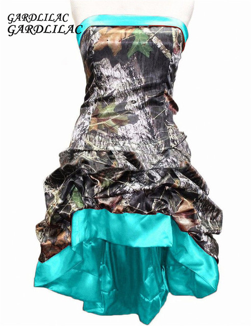 Turquoise Camo Wedding Dress
