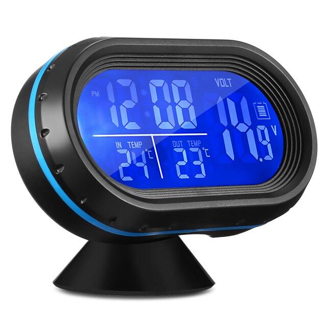9037c8c18ee VST 7009 v Carro Relógio Digital com Termômetro e Voltímetro Automotivo 2  em 1 LEVOU Duas