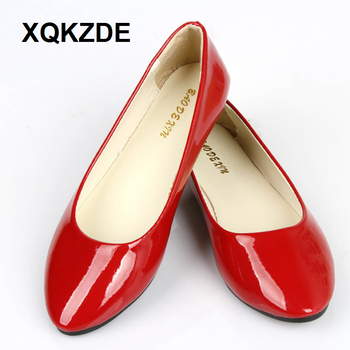 XQKZDE 2018 PU Leather Point Toe Women Casual Spring Summer Candy Colors Girl Flat Soft Ballet Zapato Shoes 800AF06