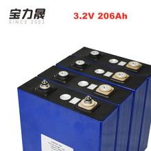 4pcs/lot 3.2V 206AH 3C 600A lifepo4 Battery cell 12v206ah 24v200ah batterie for Solar High capacity US/EU Tax Free UPS or FedEx цена в Москве и Питере