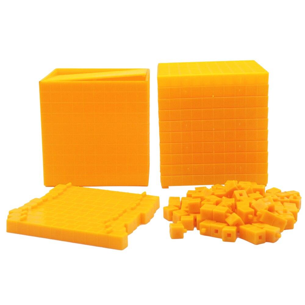 Montessori Learning Education Math Toys Montessori Decimal Cube Preschool Wooden Montessori Toys Learning B1386T