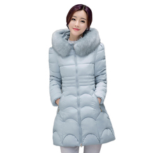 2016 3XL Hooded Parka Top Quality Brand Ladies Long Winter Overcoat Women  90% White Duck Fur Down Coat With Bag ladies' Jackets