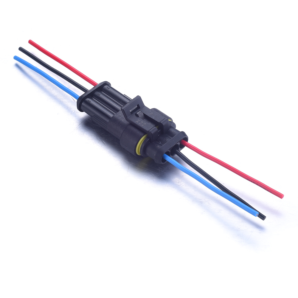3//4//5//6 Pin Waterproof HID Xenon Socket Wire Harness Power Cable Cord Connector