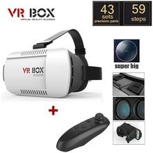 หัวติดVRแว่นตา3DของG Oogleกระดาษแข็งรุ่นความจริงเสมือนDIY 3D VRกล่องวิดีโอเกมภาพยนตร์แว่นตาที่มีการควบคุมระยะไกล