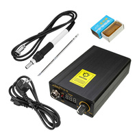 220V Digital Soldering Iron Station Temperature Controller 138x88x38mm T12 Handle EU Plug Temperature 180 435 Degrees