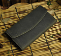 4Col Top Quality Cattle Men Male Organizal Vintage Trifold Real Genuine leather Card Cash Coin Holder Checkbook Wallet Purse