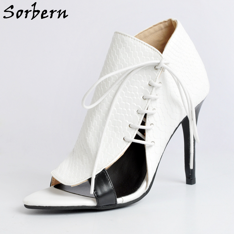 cdb117f2d5de Sorbern White Woman Shoes 2017 Sexy Heels Luxury Women Designer Shoes  Ladies Pump Shoes Open Toe Shell Style Ladies Shoe Size 12-in Women s Pumps  from Shoes ...