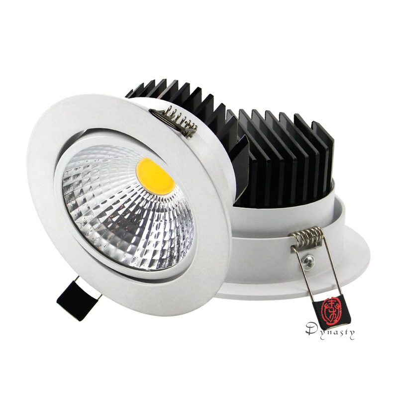 Modern Dimmable LED Spotlights COB Aluminum Down Lights High Lumen Conceal Ceiling Lights Recessed Hotel Commercial Lighting in LED Downlights from Lights Lighting