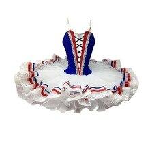 バレエチュチュ炎のパリ成人プロフェッショナルバレエチュチュロイヤルブルーホワイト妖精パンケーキパフォーマンス比較チュステージ衣装