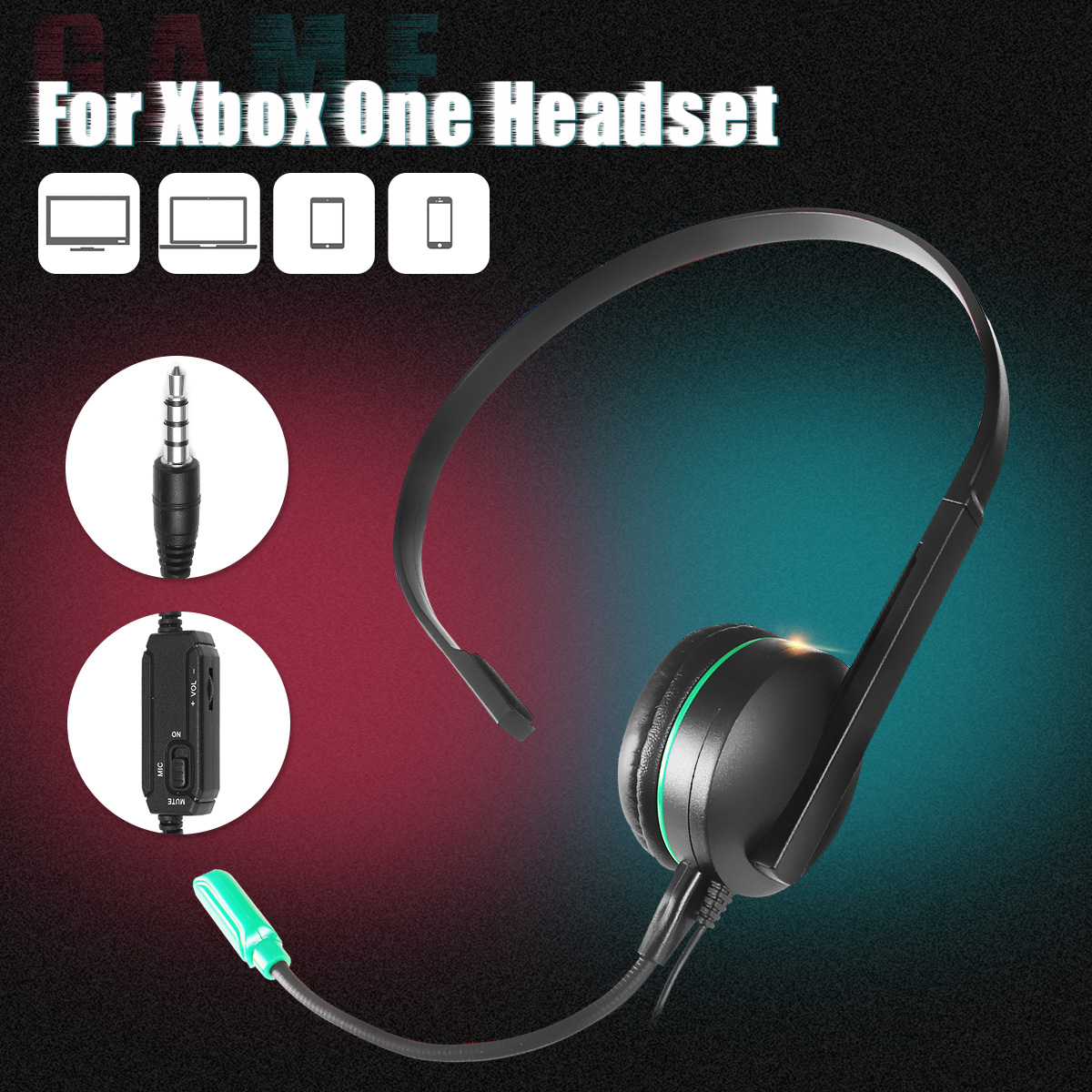 Gaming Headsets Unilateral Headsets Mobile Phone Headphones Microphones For XBOX PS4  Office Speech Meeting Telephone