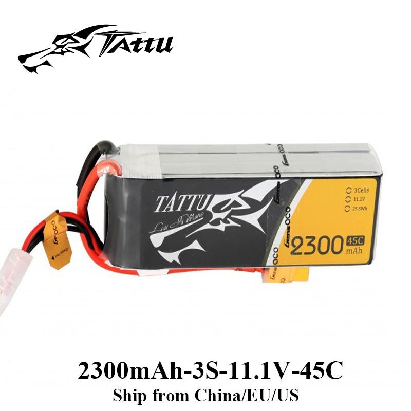 Tattu Lipo Battery 2300mAh Lipo 3s 11.1V Battery 45C XT60 Plug FPV Drone Battery FPV Frame RC Helicopter Plane Car Accessories комод с пеленальной доской антел ульяна 2 лдсп 800 4 ящика орех экко