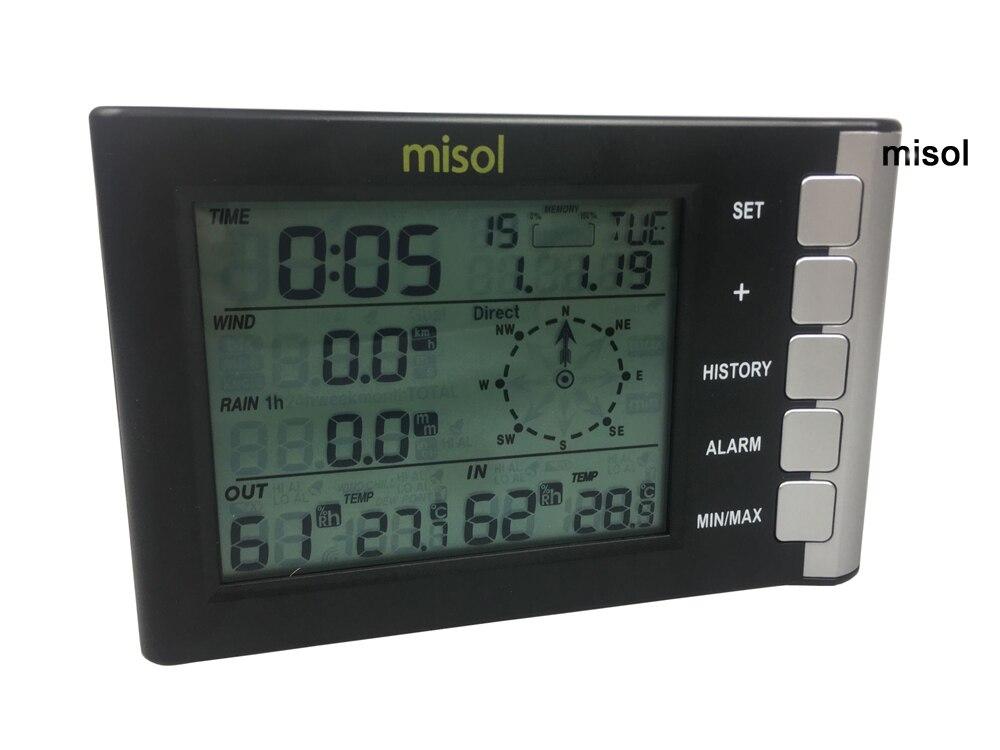 Misol/Профессиональная Метеостанция скорость ветра направление ветра температура влажность дождь 433 МГц - 3