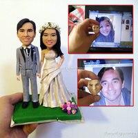 Ooak художник оригинальный Полимерная глина art кукла скульптура голая кукла ручной работы из свадебный подарок пару подарок юбилей