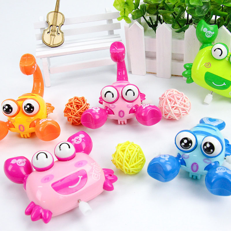 Mini Cute Funny Colorful Clockwork Toy Baby Wind Up Toys Cartoon Animal Crawling Educational Kids Classic Toy Random Color A109