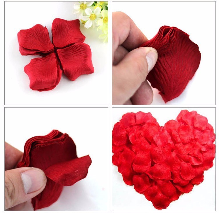 500pcs Fake Rose Petals Flower Girl Toss Silk Petal Artificial Petals For Wedding Confetti Party Event Decoration