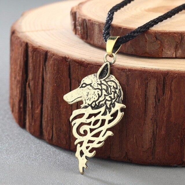 Aliexpress Buy Chengxun Men Viking Necklace Wolf Head Slavic