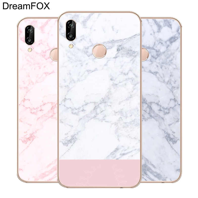 DREAMFOX L524 Fashion Marble Soft TPU Silicone  Case Cover For Huawei Honor 6A 6C 7X 9 10 P20 Lite Pro P Smart