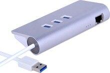 4 порт usb пк 3.0 концентратора с Rj45 Gigabit Ethernet LAN Проводной Сетевой Адаптер для Mac, имак, MacBook Pro Air