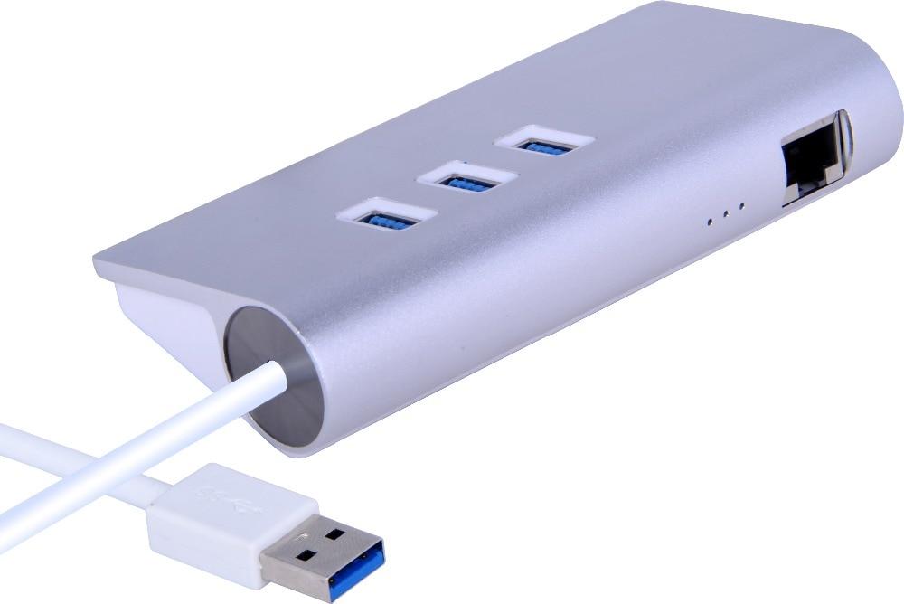 4 port usb por 3 0 hub with rj45 gigabit ethernet lan wired network adapter for mac imac macbook - Ethernet cable hub 4 ports ...
