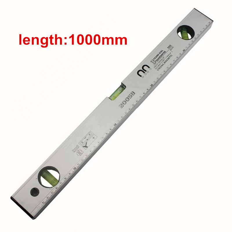 Spirit Level 1000mm the level of foot with magnet and scale-foot aluminum Horizontal ruler level measurement tool стоимость