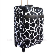 Leopard Snake Print PU travel bags suitcase spinner wheels trolley rolling luggage Pull Rod trunk boarding customs lock maletas