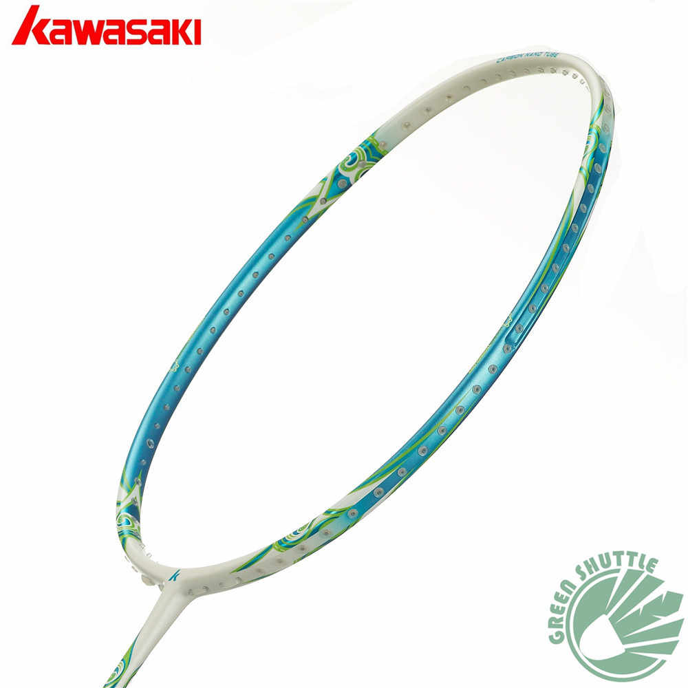 2019 Kawasaki High Elastic Shaft Carbon Fiber Badminton Racquet Aerofoil Frame Porcelain-520F Badminton Racket  With Gift