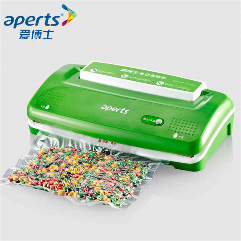 Aperts VS1000 Vacuum Sealer Preservation Household Mini Food Vacuum Packaging Machine kitchen appliances zonesun aperts full automatic small food vacuum packaging machine sealing machine for commercial smoke tea laminating machine