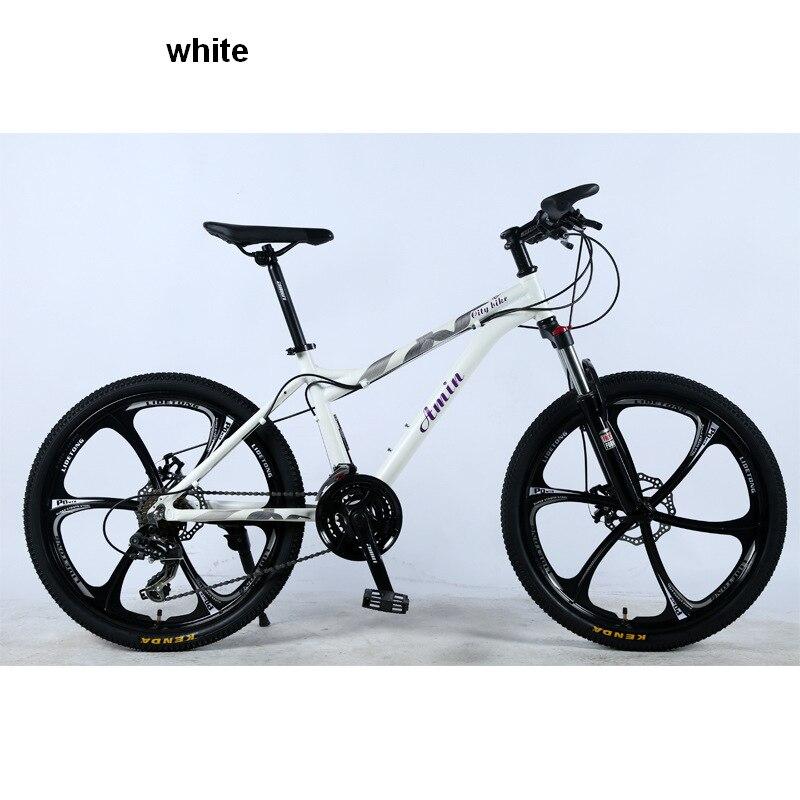 Bicycle 24 Mountain Bike Fat Bike Road Bike 21/24/27/ Speed Front And Rear Mechanical Disc Brake Hard Frame Unisex Snow Bike