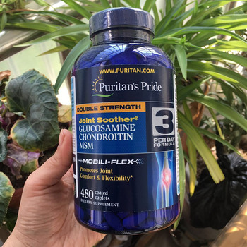 Американское Происхождение Двойная сила Глюкозамин Chondrotitn MSM способствует комфорту и гибкости суставов 480 шт