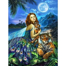 Elf and tiger diamond Embroidery diy painting mosaic diamant 3d cross stitch pictures H646