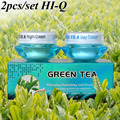 Wholesale whitening Nourishing anti-freckle set natural activity greentea day cream+night cream green tea