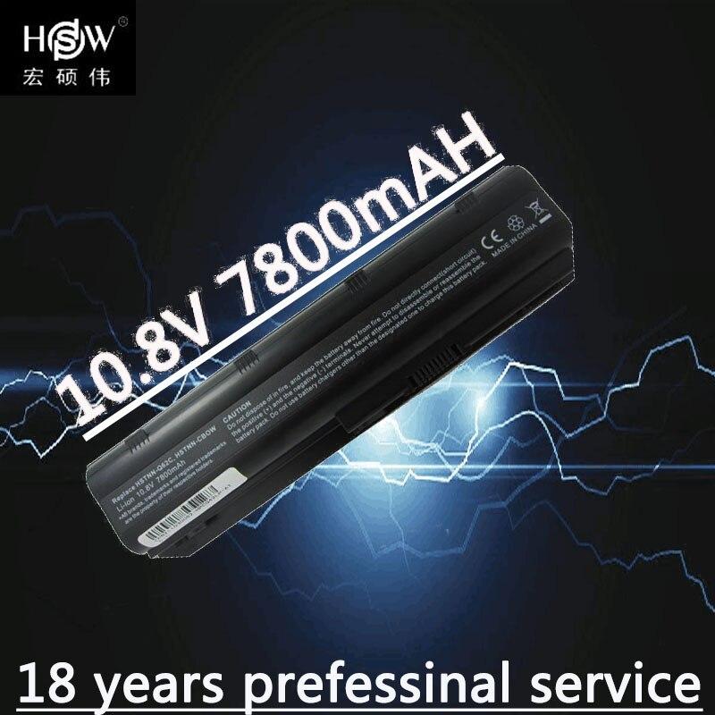 HSW 7800 mah batterie pour HP Pavilion DM4 DM4T DV3 DV5 DV6 DV6T DV7 G4 G6 G7 G62 G62T G72 MU06 HSTNN-UBOW CQ42 CQ56 CQ62 batteria